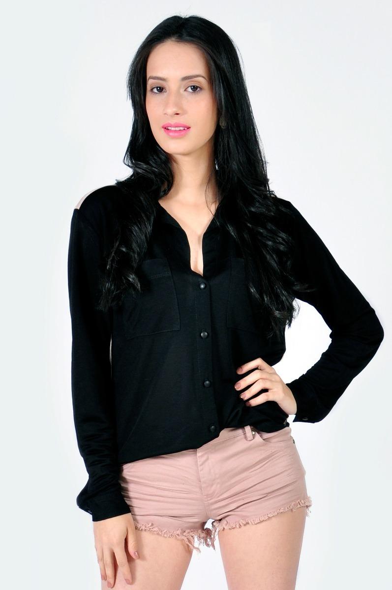 a0b02aa07a camisa social feminina malha manga longa. Carregando zoom.