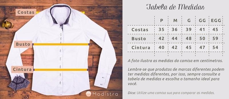 48efe6345 Camisa Social Feminina My Cris Branca Detalhes Patch Work - R  149 ...