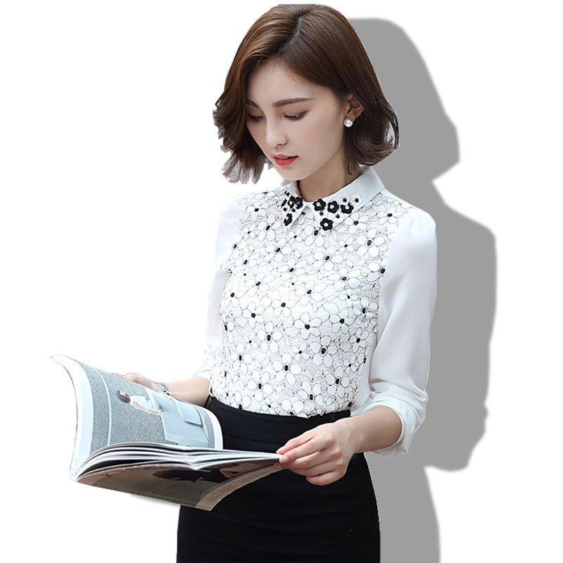 ffacb61616 camisa social feminina renda branca preta flores bordada. Carregando zoom.
