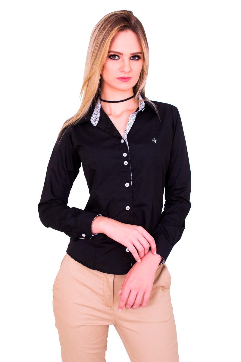 2f12d1871c4be camisa social feminina slim com detalhes flores promoção. Carregando zoom.