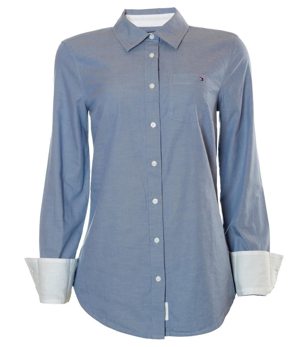 a8eee3fbe Camisa Social Feminina Tommy Hilfiger Link Blue - R$ 389,87 em ...