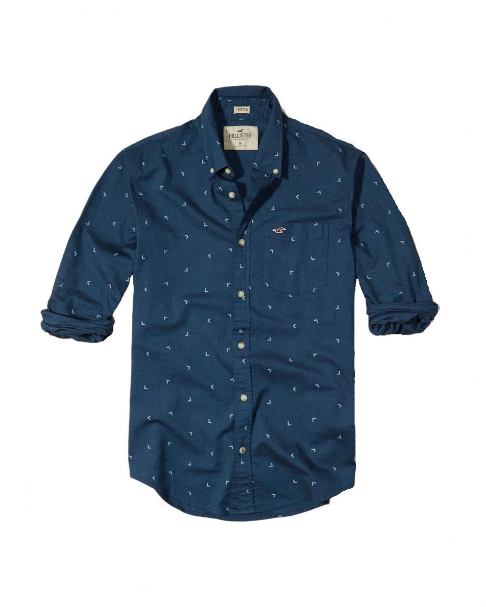 f2faec2ca camisa social hollister azul marinho original importada eua. Carregando  zoom.