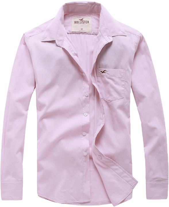 c8e6d8e8d Camisa Social Hollister Masculina Lilás Pronta Entrega - R  149
