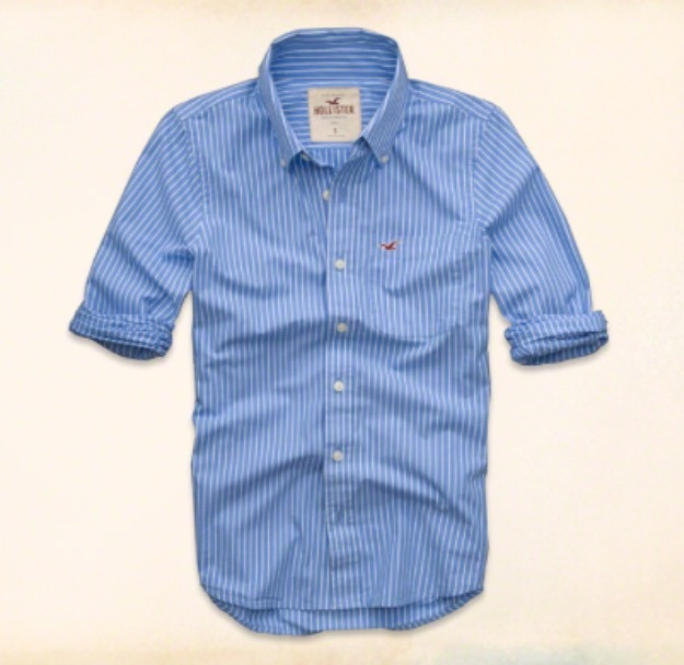 606eadd8f Camisa Social Hollister Original - R  195