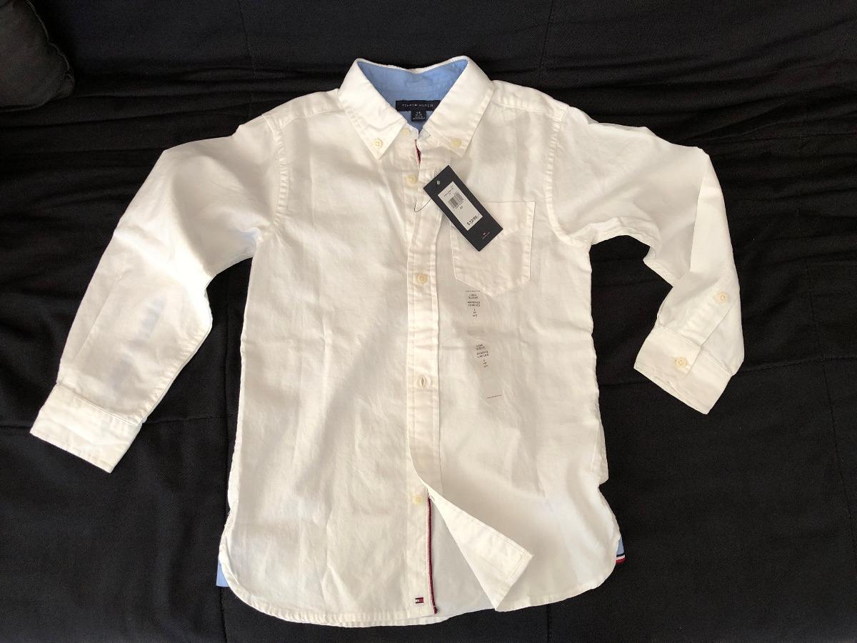 e4003e558e camisa social infantil branca manga longa tommy hilfiger. Carregando zoom.