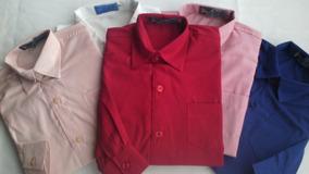 fc51f9ef5b Camisa Social Estilo Dinamarca Branca Vermelha Tamanho 14 - Camisa ...