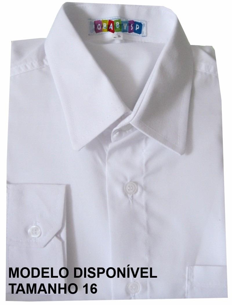 camisa social infantil manga longa masculina menino criança. Carregando  zoom. 629490bd98a