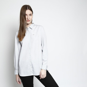 356f7bb819c Camisa Xadrez Lacoste - Camisa Feminino no Mercado Livre Brasil