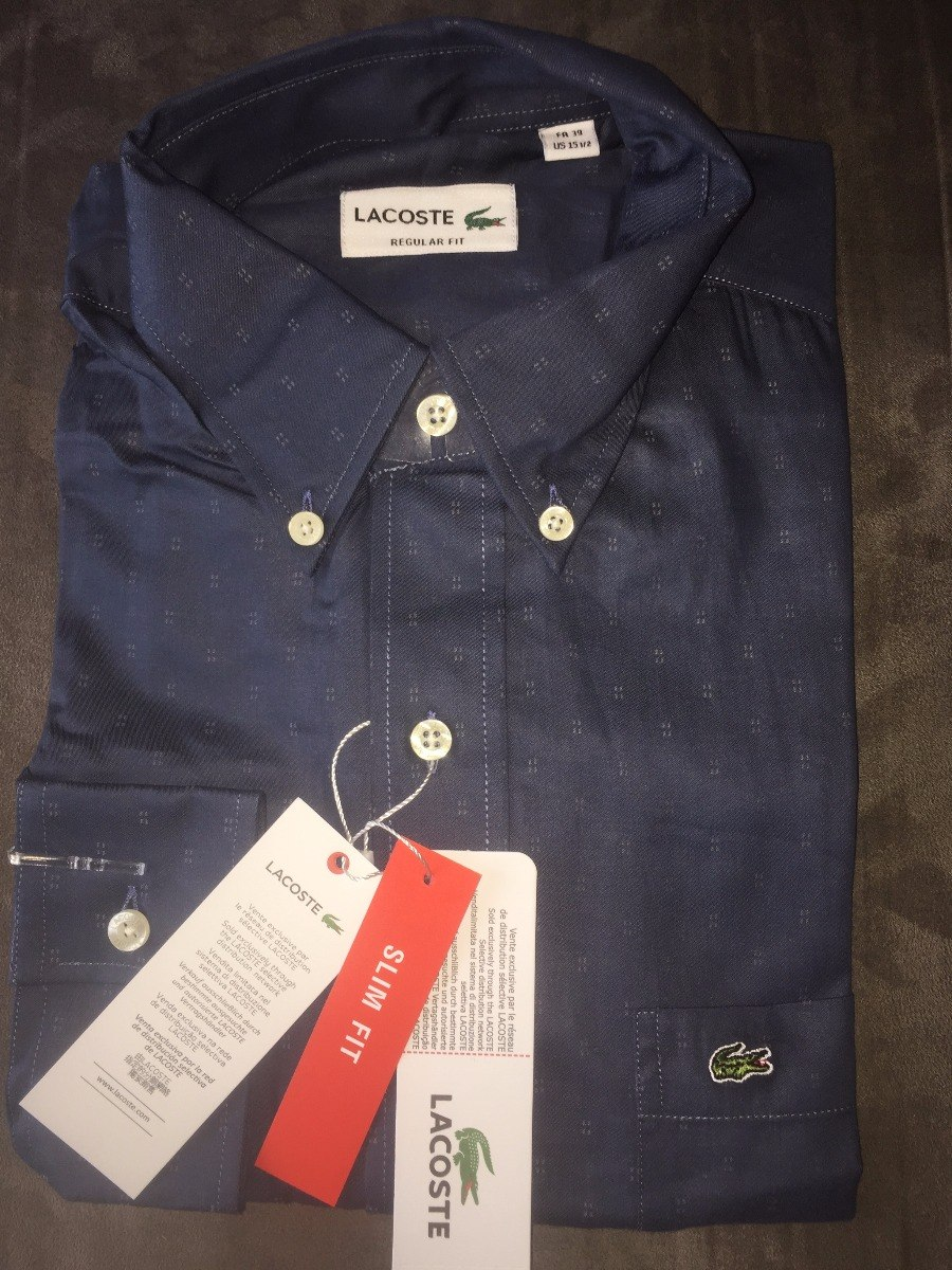 b7c739c2db19a Camisa Social Lacoste