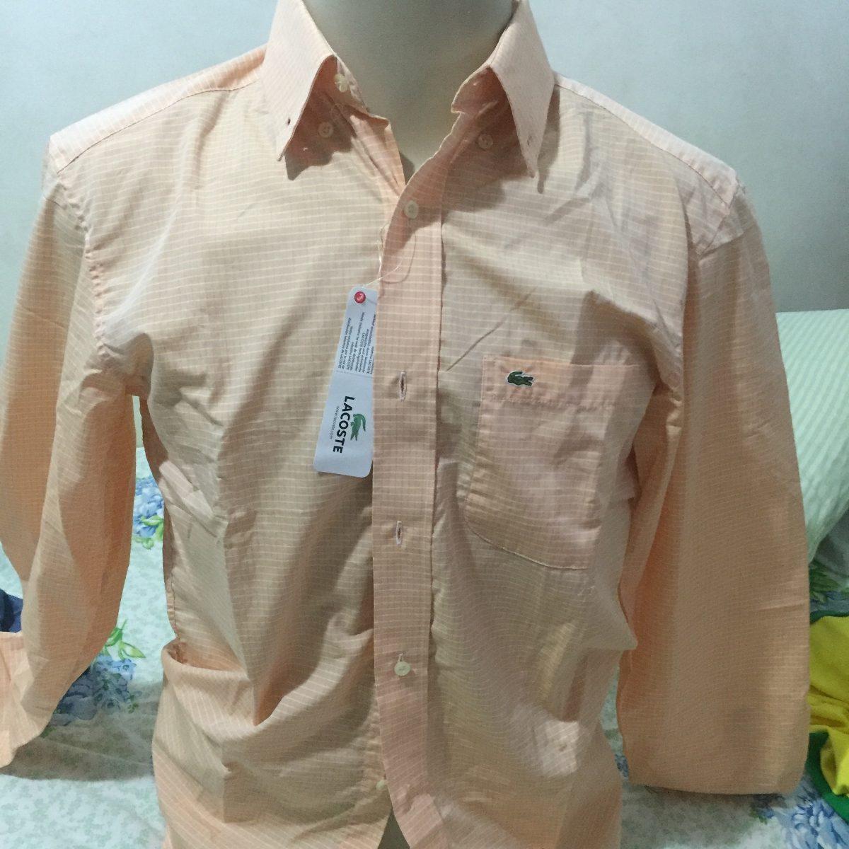 5680dbbd7e310 camisa social lacoste manga longa, original tamanho 38 fit. Carregando zoom.