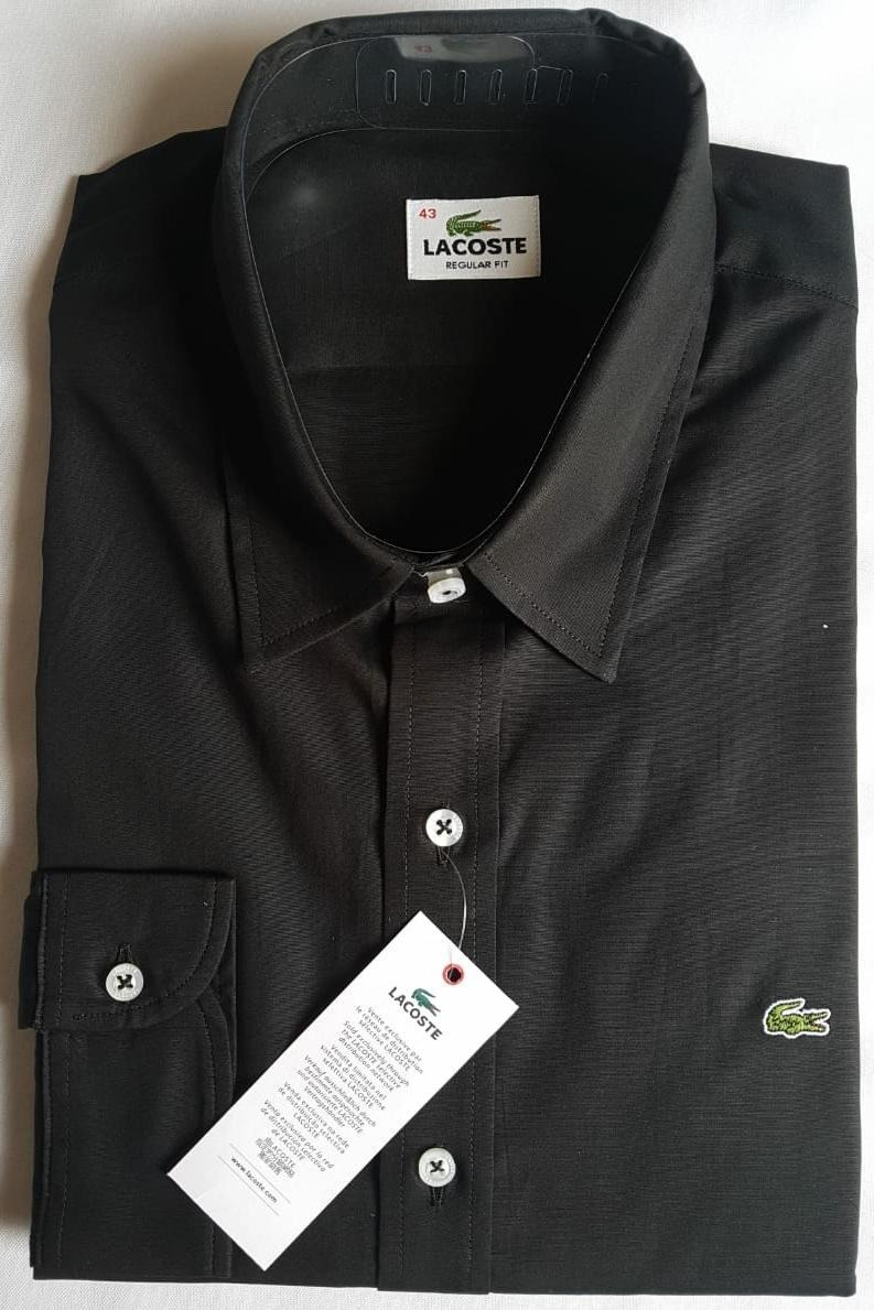 b4e2b9ec67d78 camisa social lacoste masculina regular fit bordado -. Carregando zoom.
