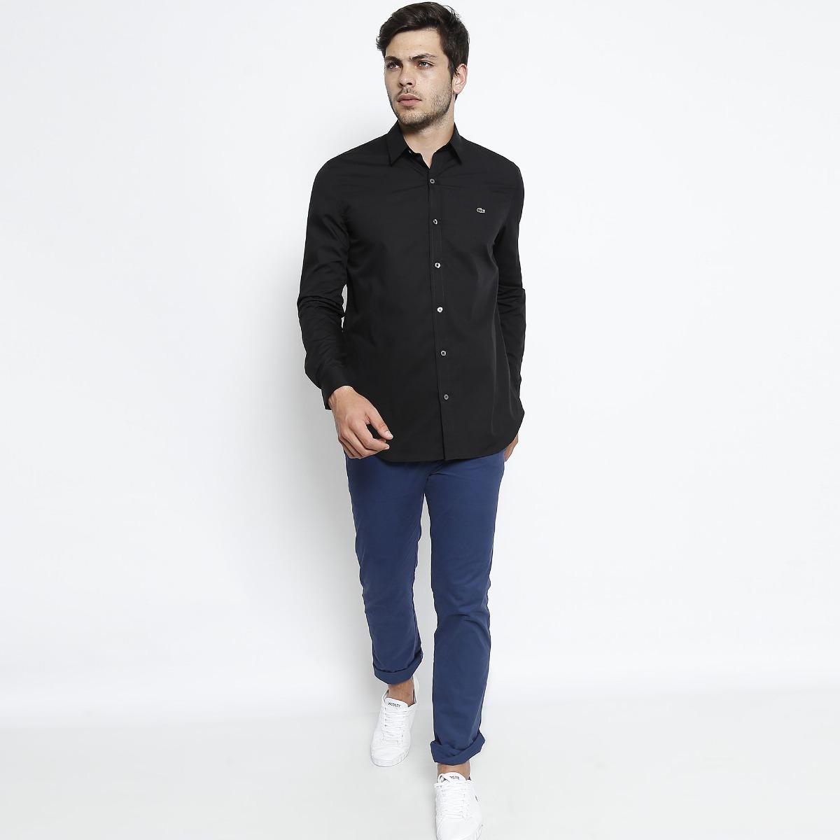 c3918eb7b479f camisa social lacoste masculina regular fit bordado -. Carregando zoom.
