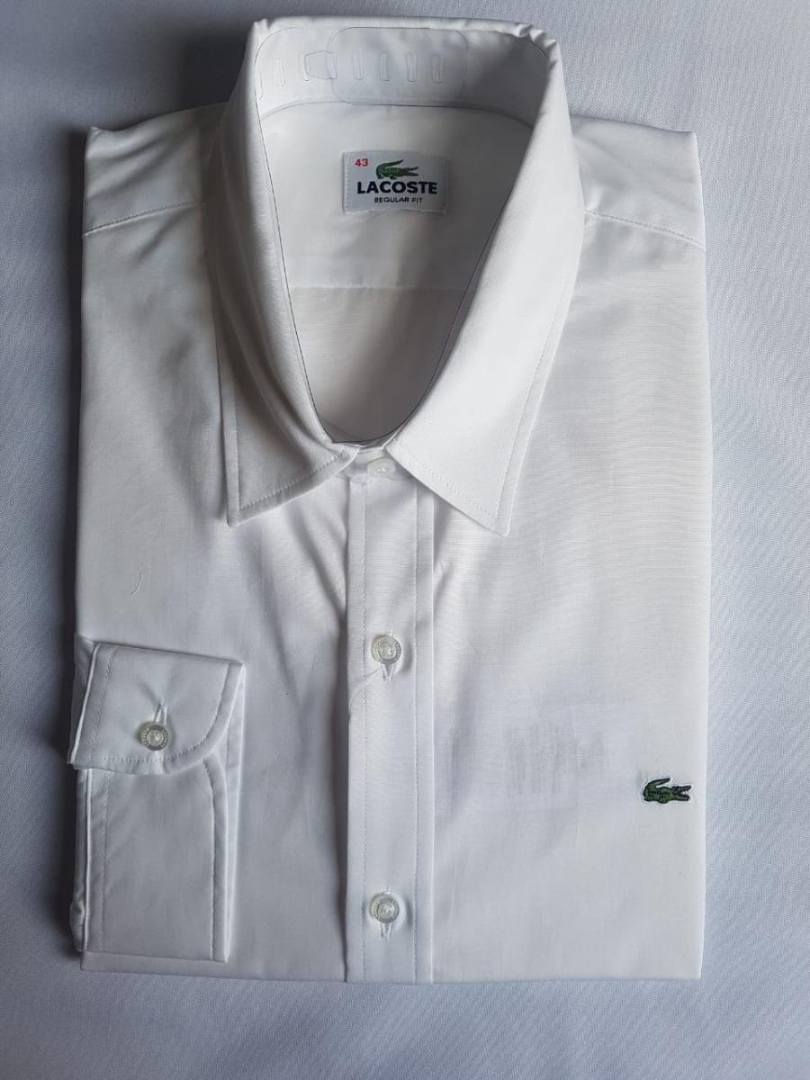 5857c51315fb8 camisa social lacoste masculina slim fit bordado - branca. Carregando zoom.