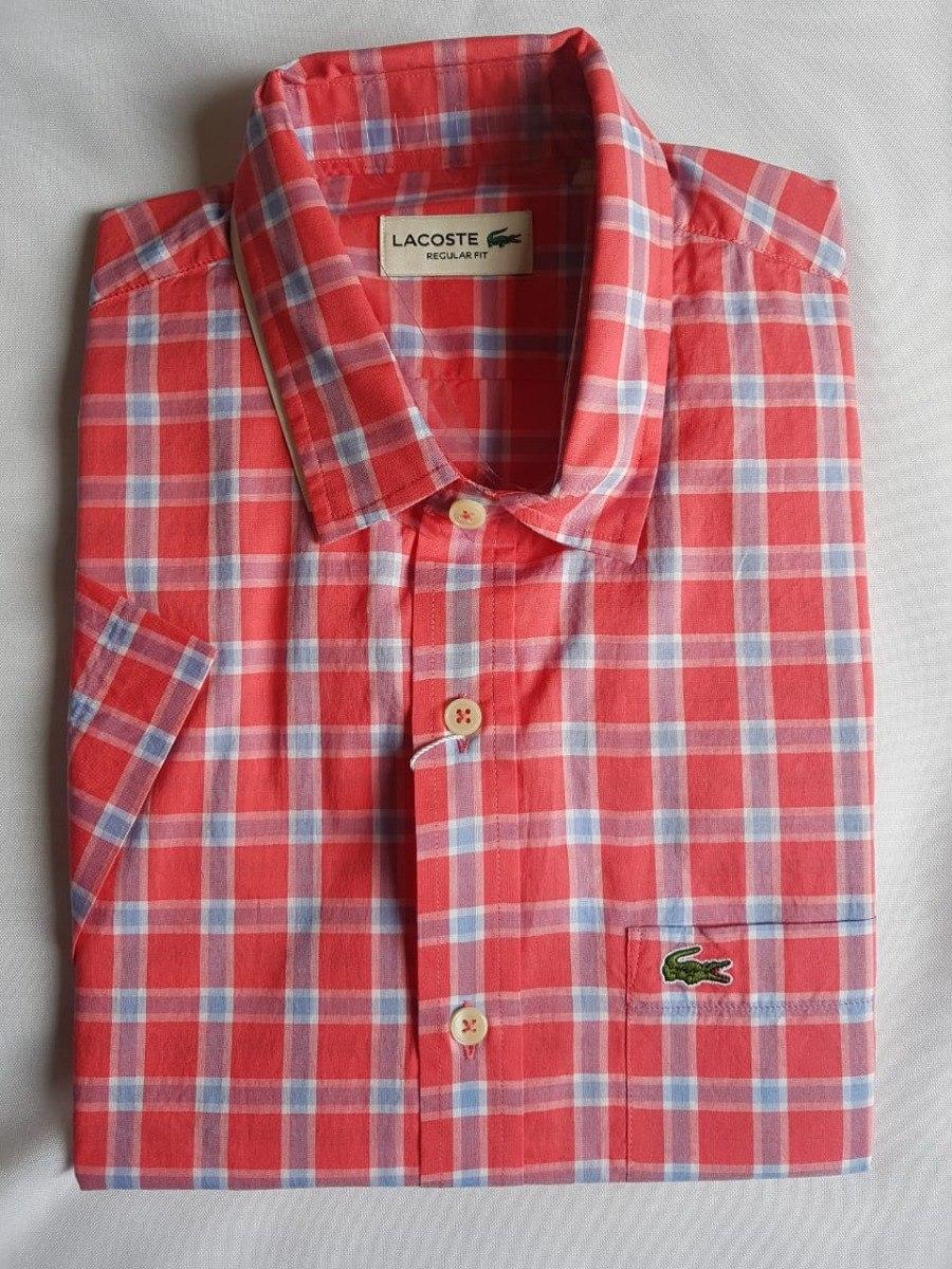 82bf98412c8 camisa social lacoste masculina xadrez manga curta. Carregando zoom.
