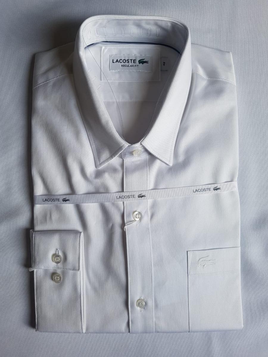 c9ebdb4bc7518 camisa social lacoste slim fit popeline de algodão stretch. Carregando zoom.