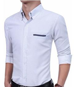 a060463816 Camisa Slim De Bolinha - Calçados, Roupas e Bolsas com o Melhores Preços no  Mercado Livre Brasil