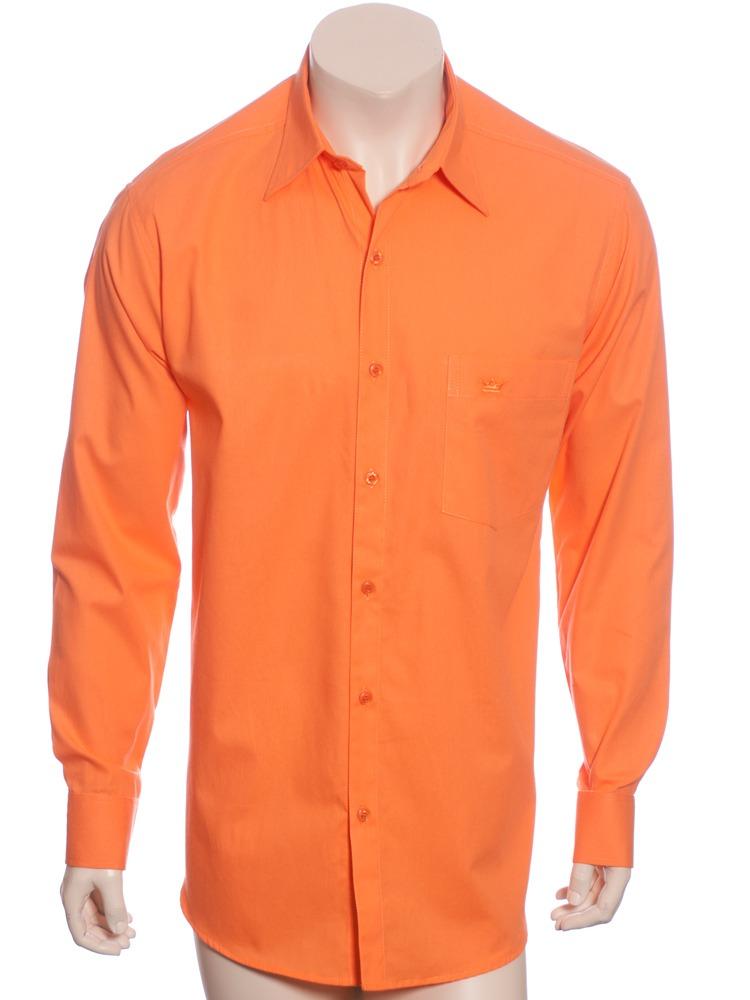 739cd4e956 Camisa Social Laranja Masculina De Algodão - R$ 119,90 em Mercado Livre