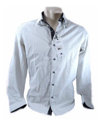 camisa social level ten branca original tamanho p