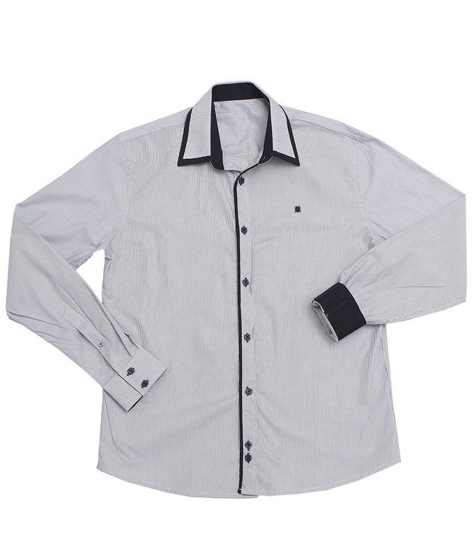 Carregando zoom. e448a9868107cf  camisa social listrada masculina cinza  slim fit - mpollo. Carregando zoom. ccedead2ab1a05 ... 352560f683829