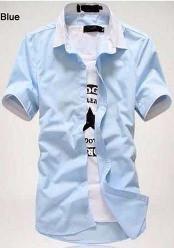 camisa social manga
