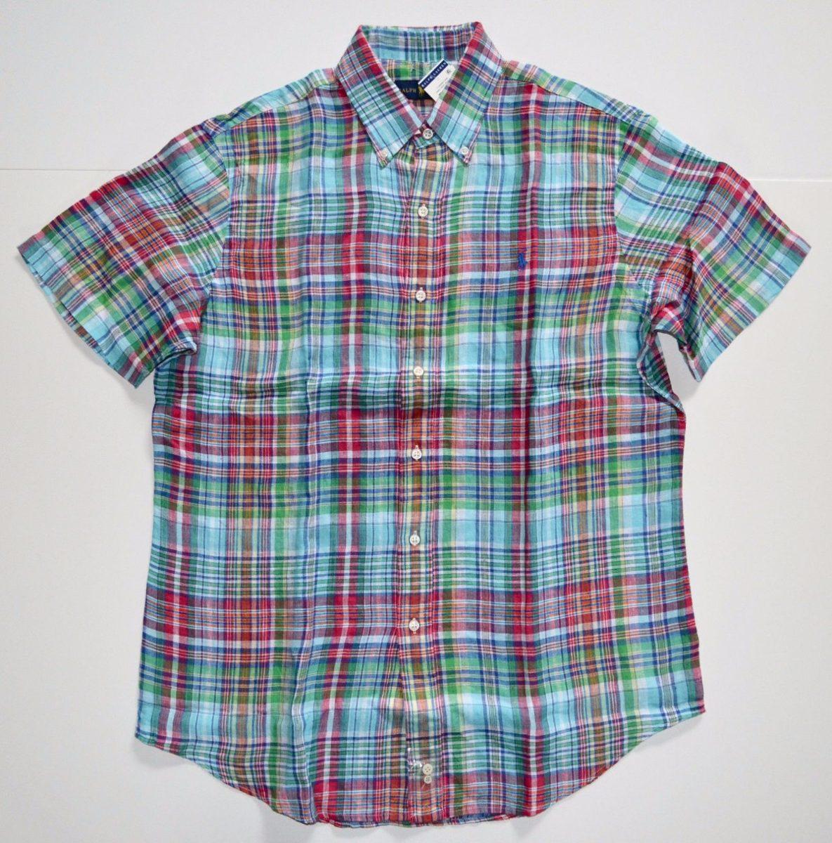 36012b5331a73 Camisa Social Polo Ralph Lauren Tamanho P S Manga Curta Nova - R ...