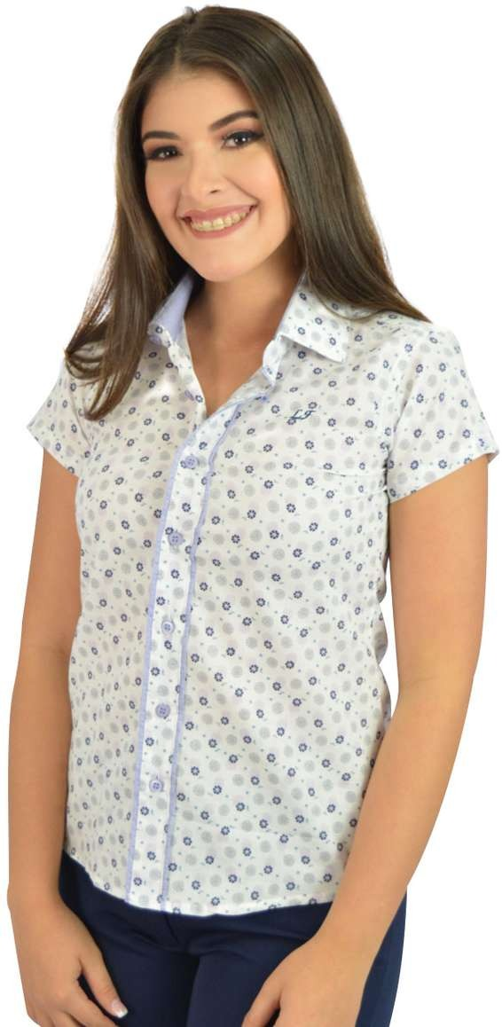8198566976 camisa social manga curta branca flores - oferta. Carregando zoom.