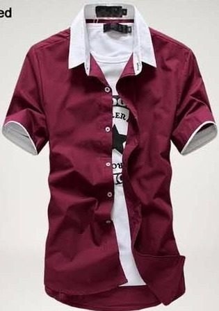 camisa social manga curta slim kazam frete grátis p/ 2 un