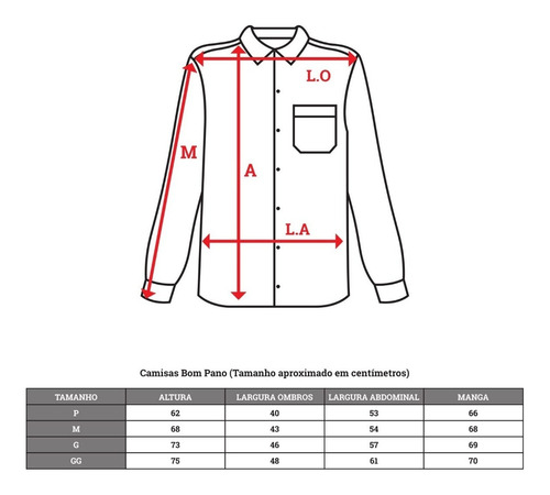 camisa social manga longa 100% microfibra diversas cores