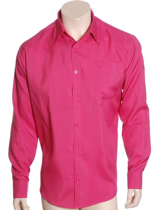 Camisa Social Masculina De Microfibra Manga Longa 5f637496a933b