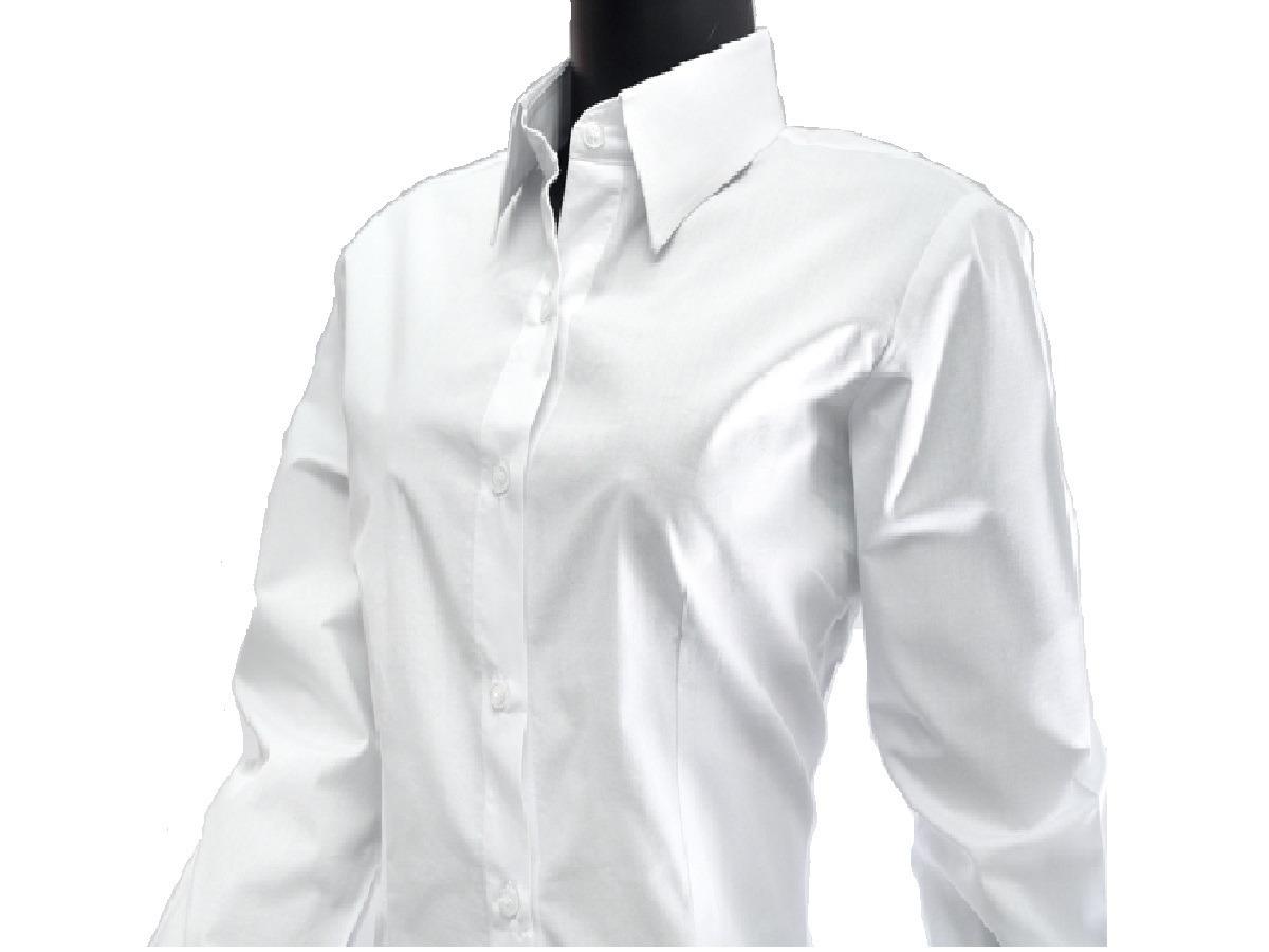 6351e95ef6 Camisa Social Feminina Manga Longa Tricoline 100% Algodão - R  49