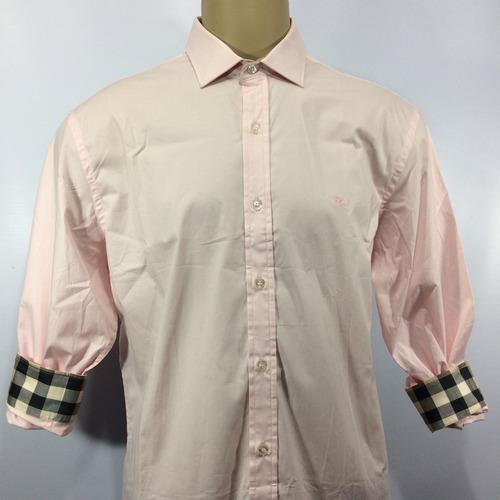 c1a1815b81 Camisa Social Burberry London Manga Longa 100 Algodão - R  249