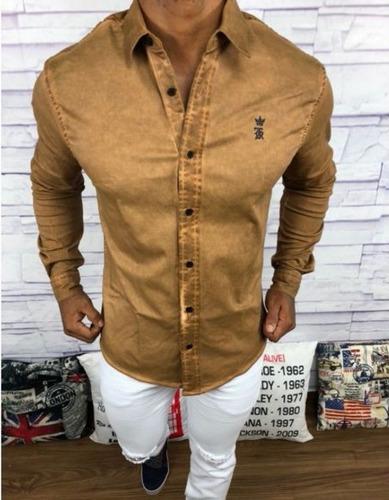 camisa social manga longa