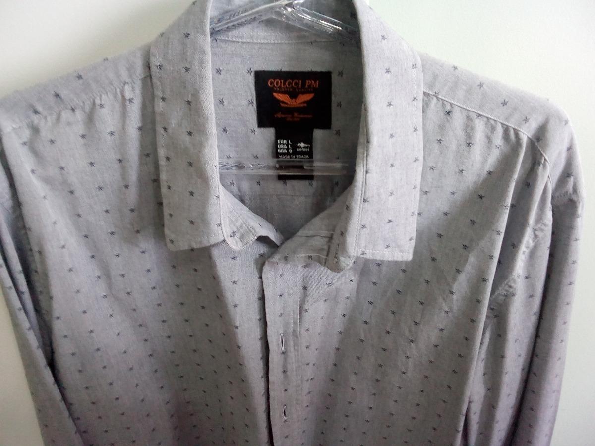 camisa social manga longa masculino cinza colcci original. Carregando zoom. a411dab164c