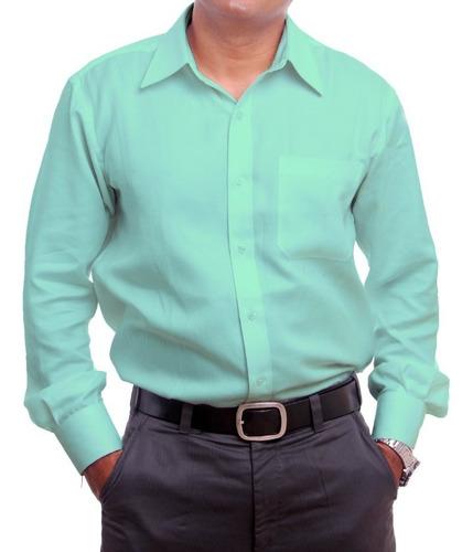 camisa social manga longa microleve premium - não amassa