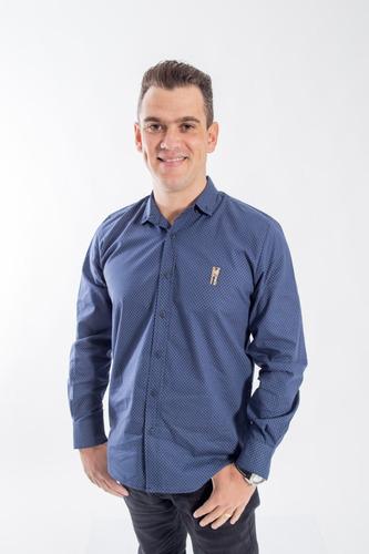camisa social masculina adulto