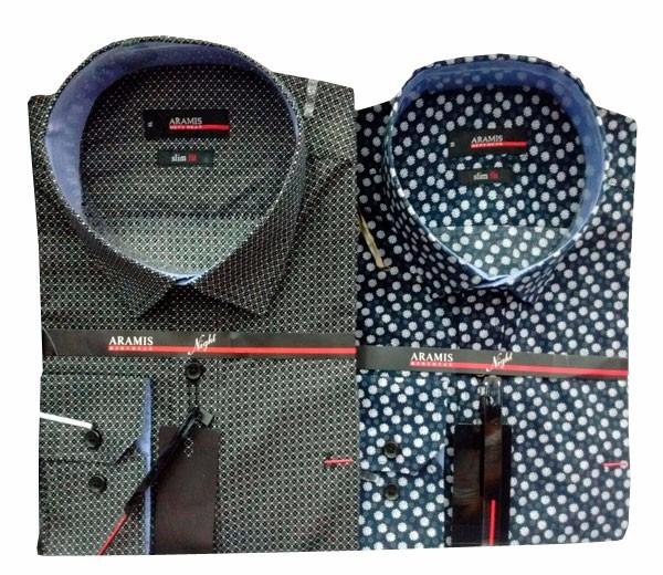 223550dc79 Camisa Social Masculina Aramis Estampada Chumbo - R  139