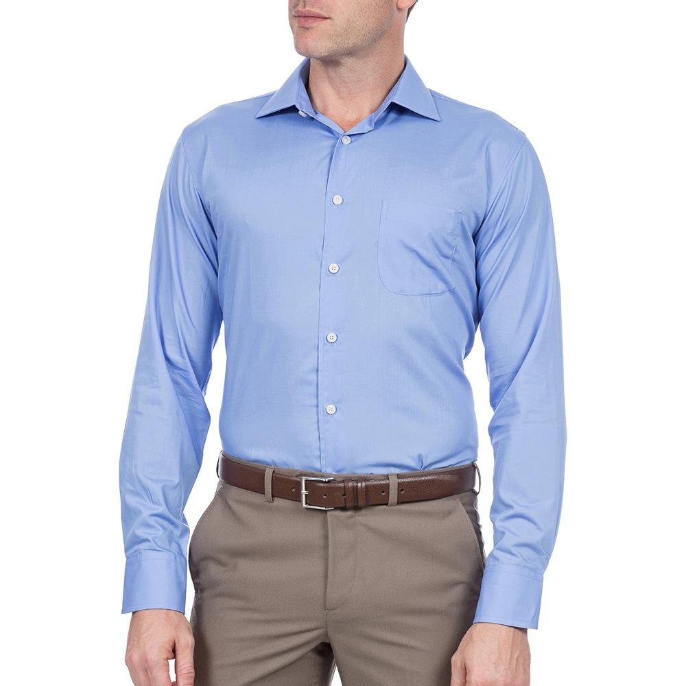 camisa social masculina azul lisa upper upper. Carregando zoom. 946c81e979ef5