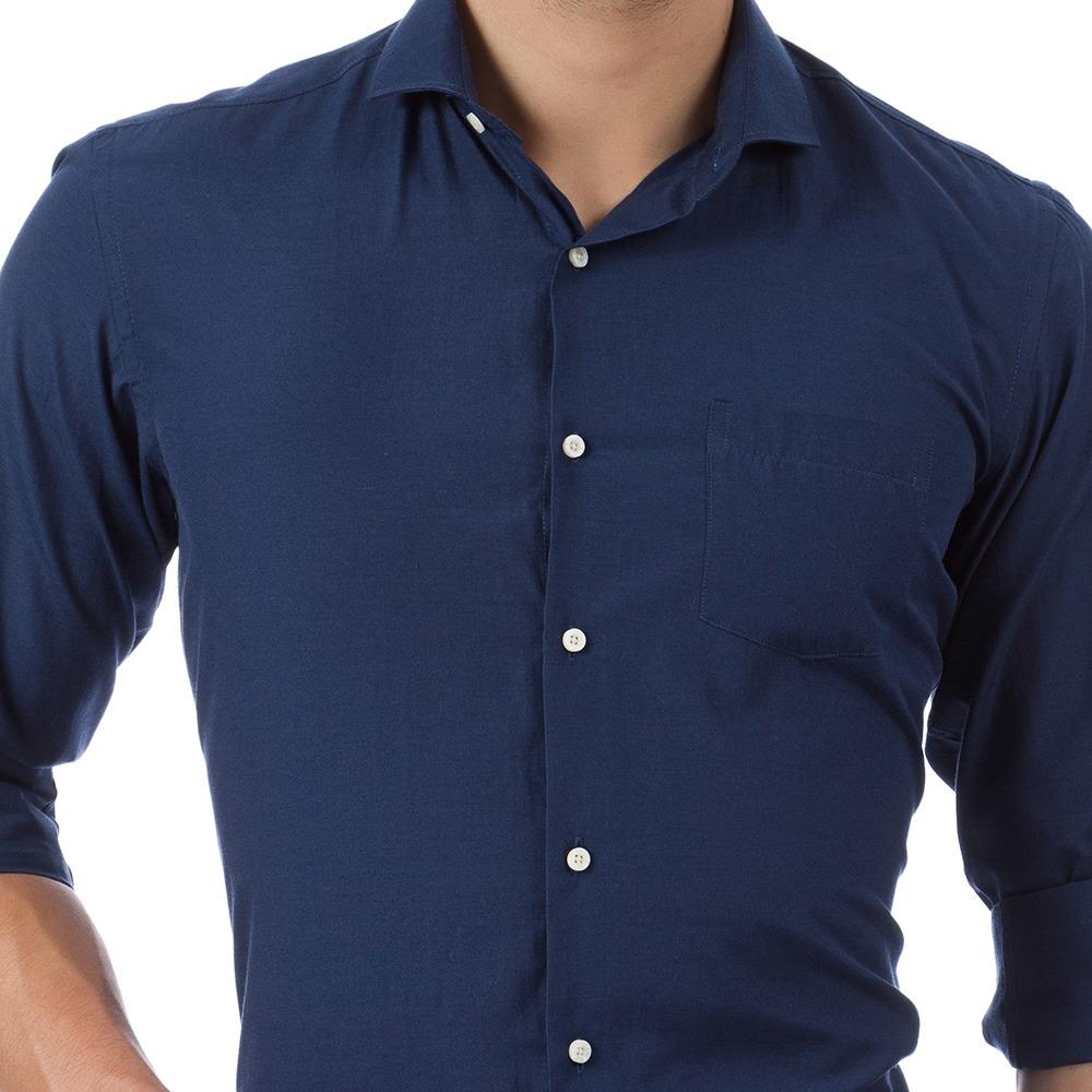 Camisa social masculina azul marinho lisa colombo carregando zoom jpg  1000x1000 Camisa social masculino azul royal 0e82c37a29935