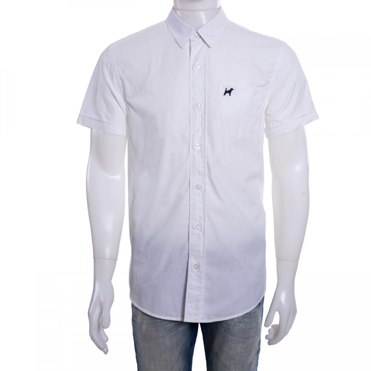 camisa social masculina beagle manga curta 027201 original. Carregando zoom. 7704c4193b8