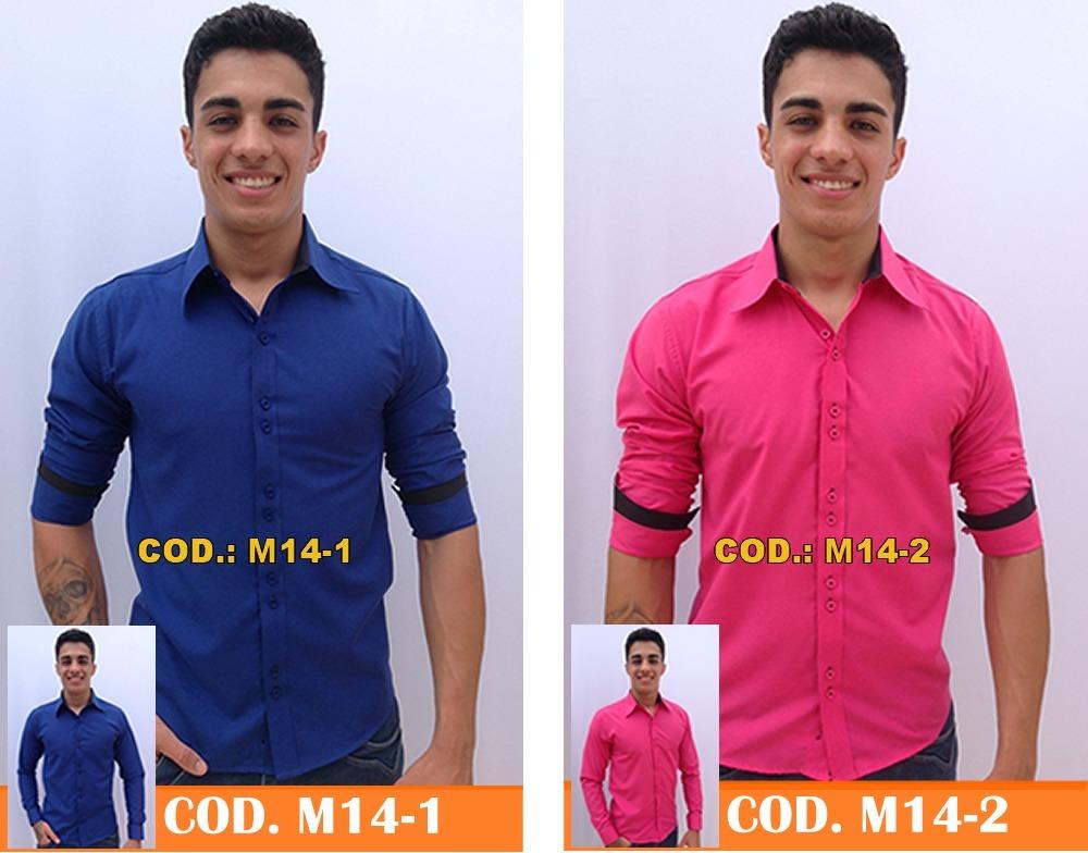 camisa social masculina blusa barata revenda atacado kit 3pç. Carregando  zoom. 7526fc69c26
