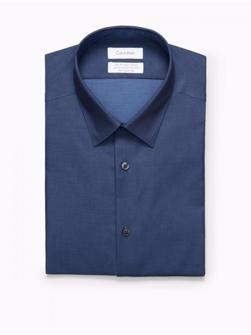 camisa social masculina calvin klein ck slim fit original. Carregando zoom. 9535aa7603
