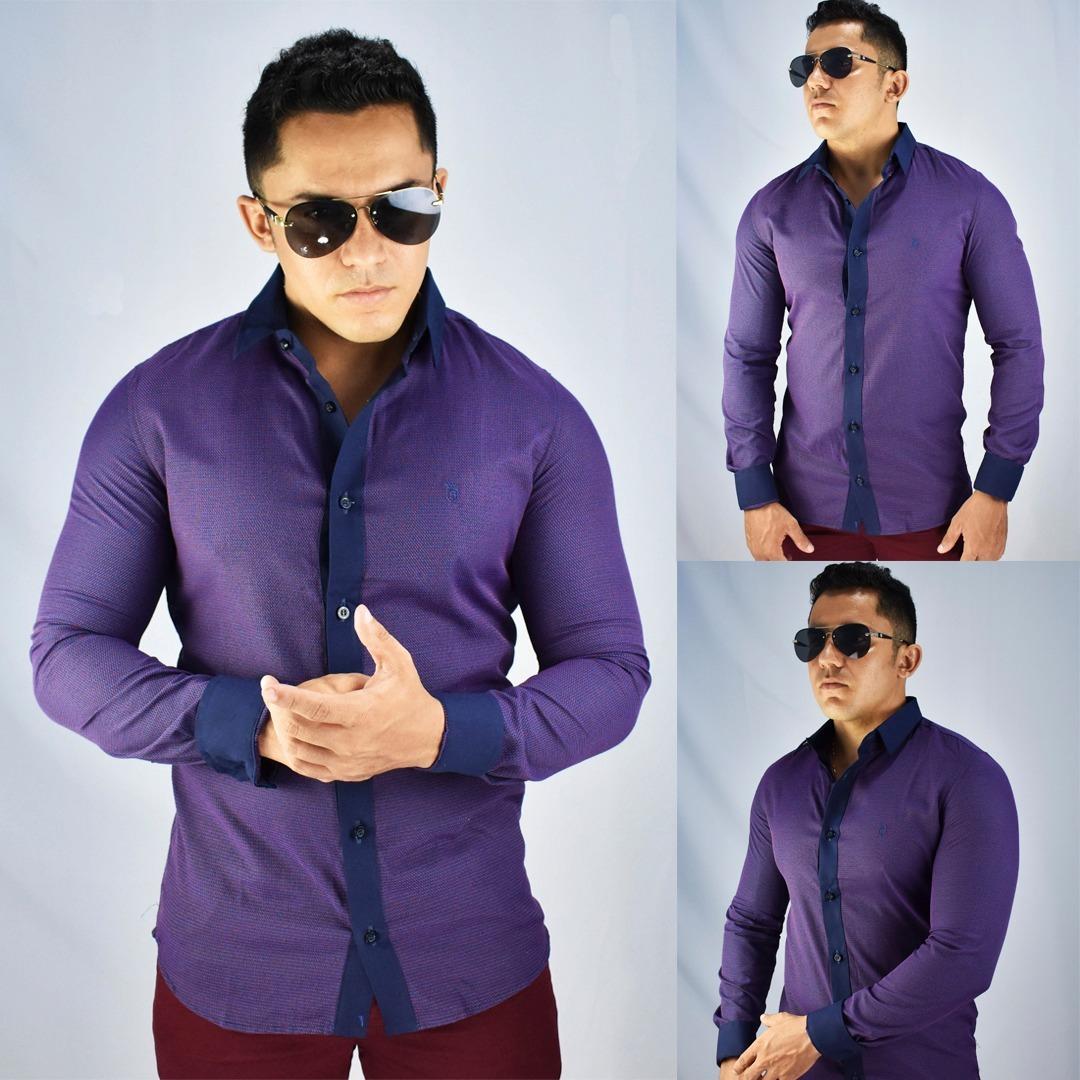 1b1701a65d camisa social masculina fit slim luxo importada manga longa. Carregando  zoom.