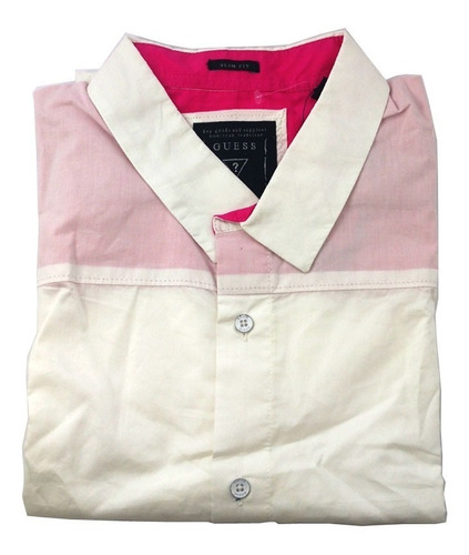 camisa social masculina guess slim fit tamanho gg