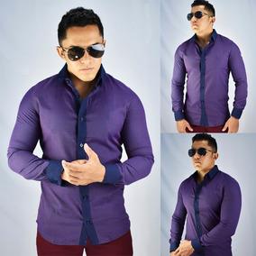 3fa39f33520 Mix Imports Camisa - Camisa Formal Longa Masculinas Violeta com o ...