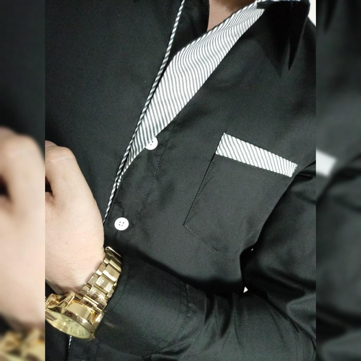 cf39ced4bc camisa social masculina manga comprida homem slim oferta! Carregando zoom.
