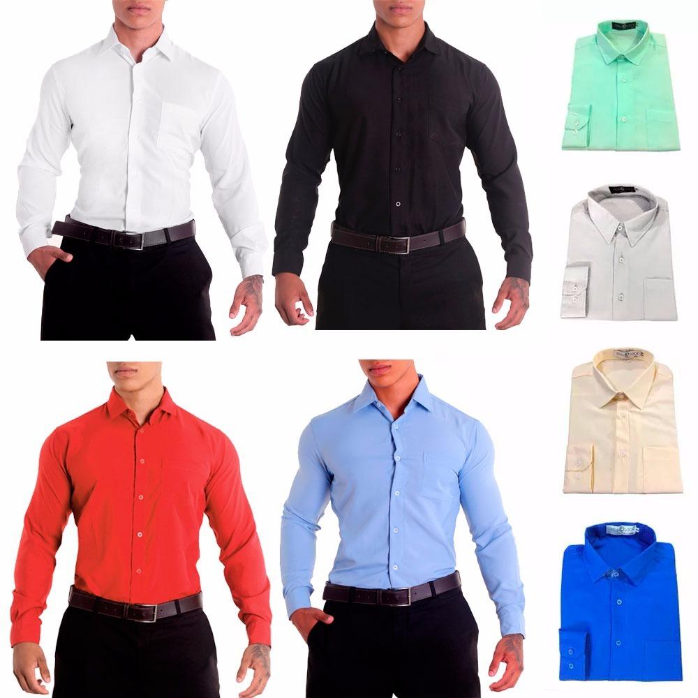 05bd7e4f90 camisa social masculina manga longa - 100% microfibra. Carregando zoom.
