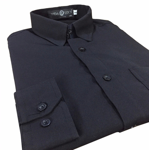 camisa social masculina manga longa empresas