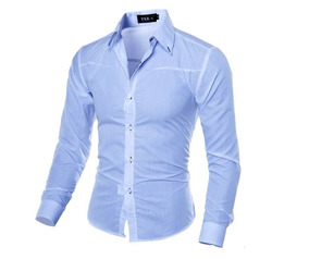 65d0e821205 Camisa Social Slim Masculina Importada Manga Longa - Camisa Formal ...