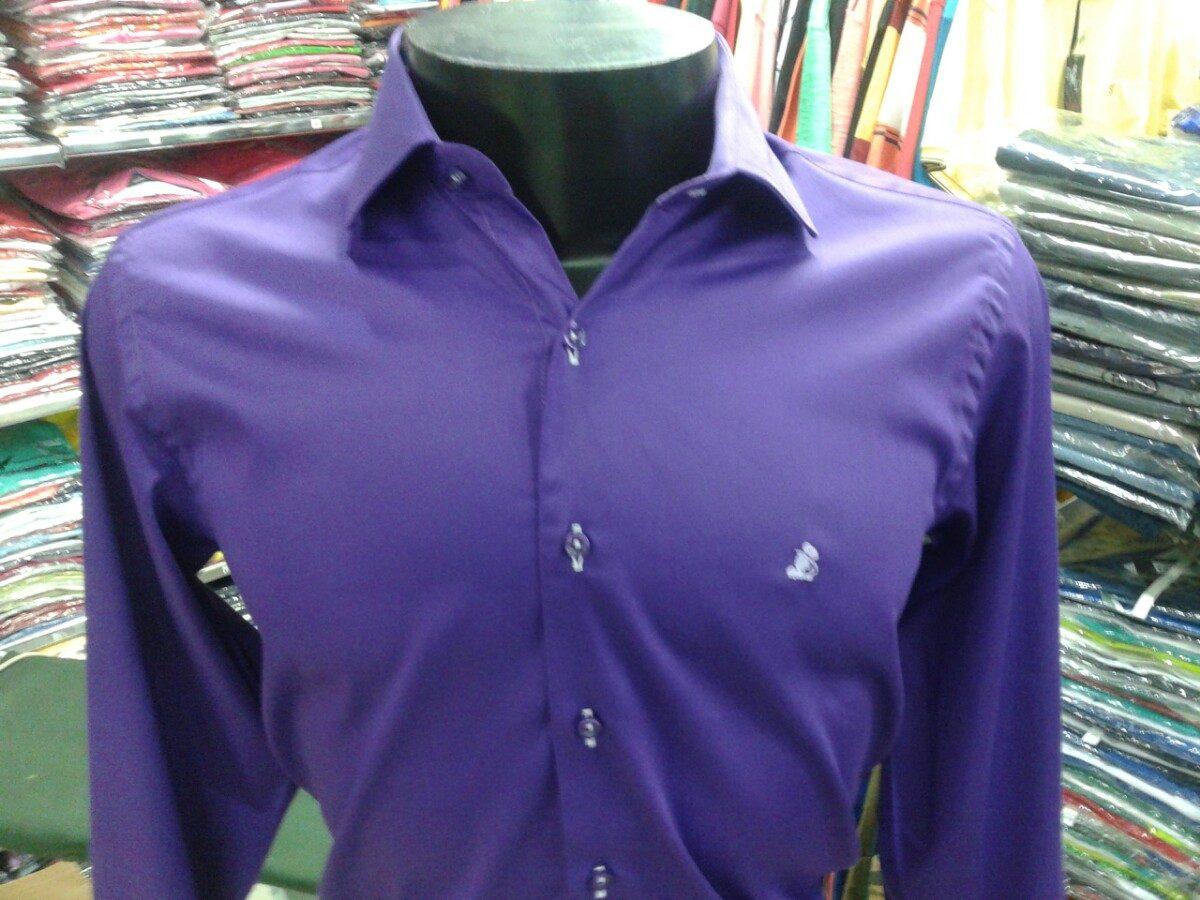 b14d74a7fe camisa social masculina manga longa slim marca dml algodão. Carregando zoom.