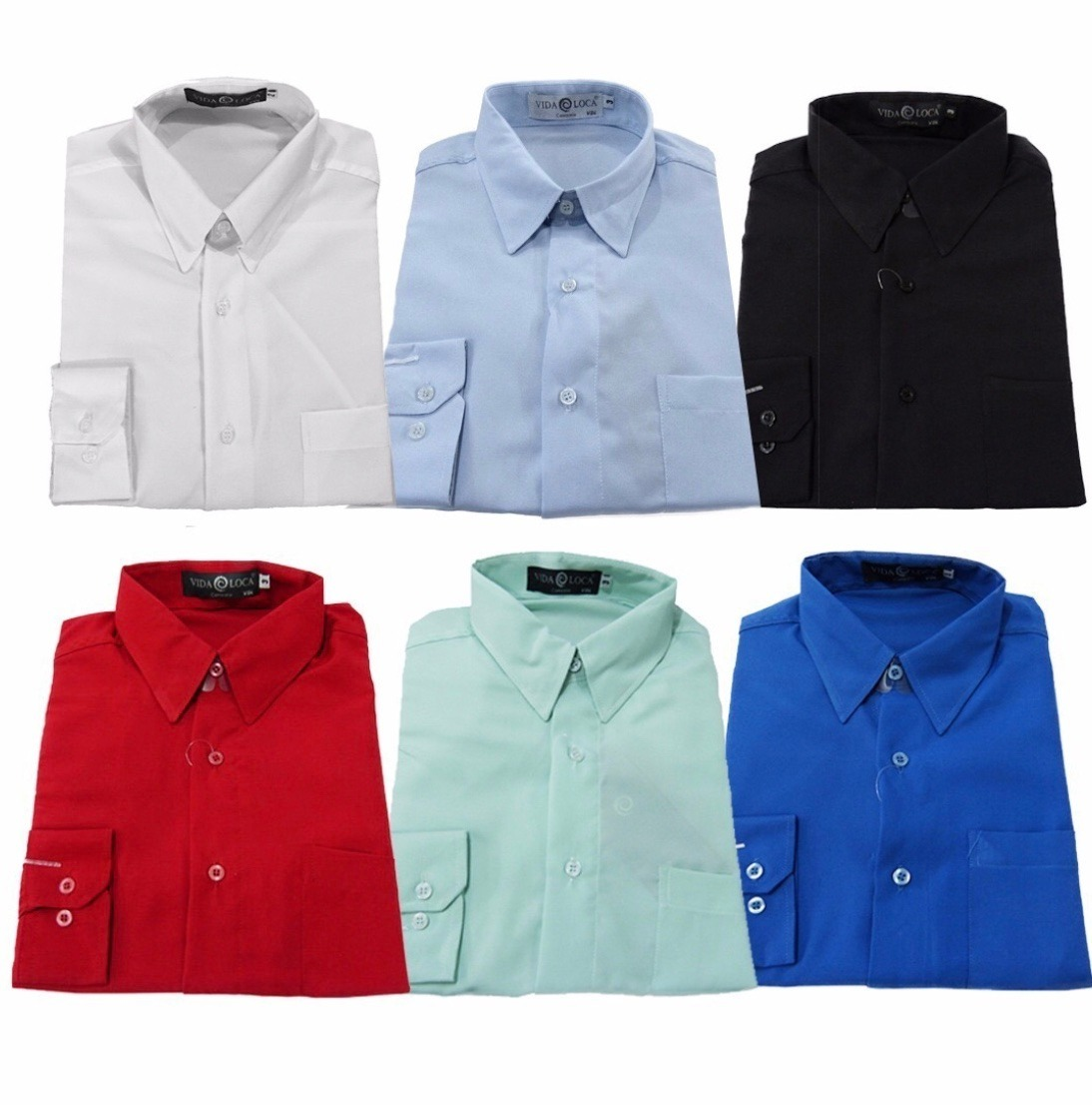 6ff7e47fae camisa social masculina manga longa trabalho uniforme loja. Carregando zoom.
